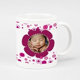 Mug Baptême Trinquons - rose
