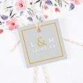 Etiquette Cadeau Mariage Tendance dorée gratuit