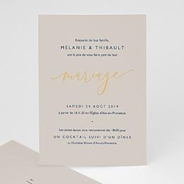 Faire-Part Mariage Texte minimaliste