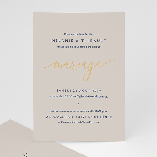 Faire Part Mariage chic - Texte minimaliste 66534 thumb