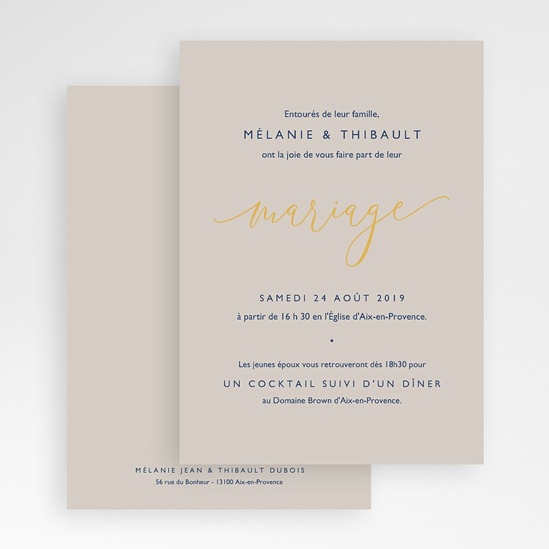 Faire Part Mariage chic - Texte minimaliste 66536 thumb