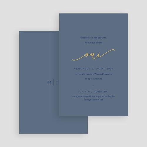Carte invitation mariage Modern Minimalist gratuit