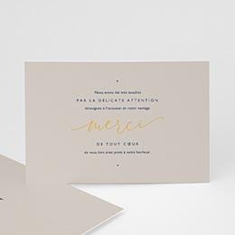 Carte remerciement mariage sans photo Modern Minimalist