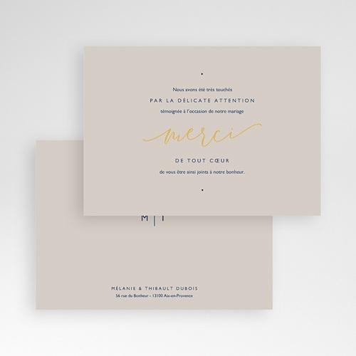 Carte Remerciement Mariage sans Photo Modern Minimalist pas cher
