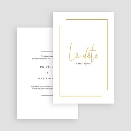 Carte invitation mariage On se marie gratuit