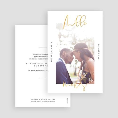 Carte remerciement mariage photo On se marie gratuit