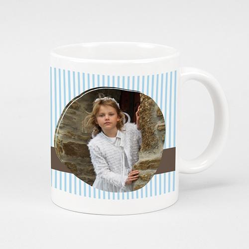 Mug Personnalisé Photo Tasse - Bleu rayé