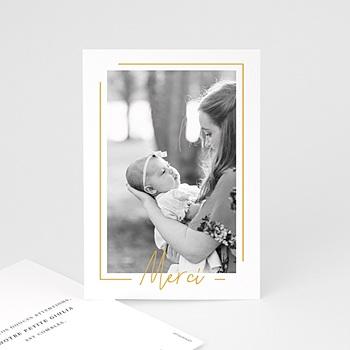 Créer soi même carte remerciement naissance fille baby girl gold