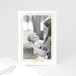 Carte remerciement naissance fille Baby Girl Gold