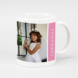 Mug Communion Dragées - Bandeau Rose