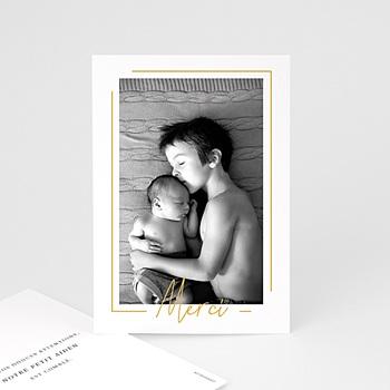 Acheter carte remerciement naissance garçon baby boy gold