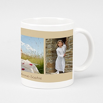 Mug Mug de Communion beige personnalisable
