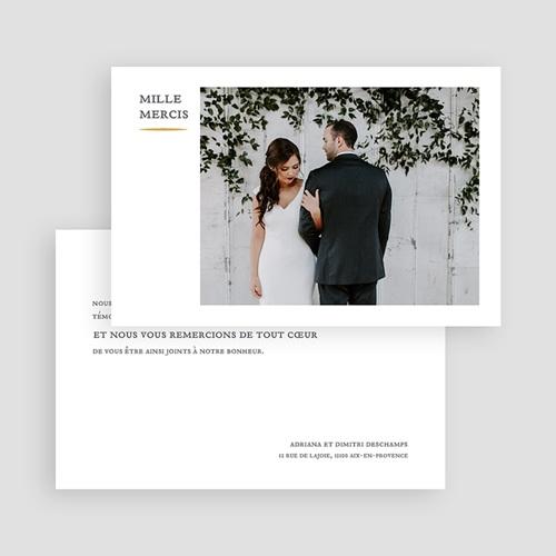 Carte remerciement mariage classique Tradition modernisée gratuit