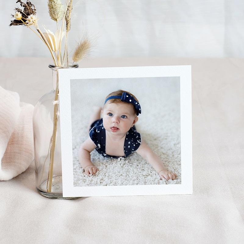 Carte remerciement naissance fille Miss Rose pas cher