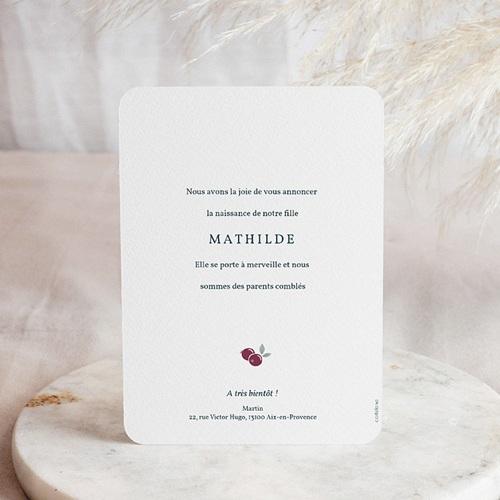 Faire-Part Naissance Fille - Fruit des Bois 66799 thumb