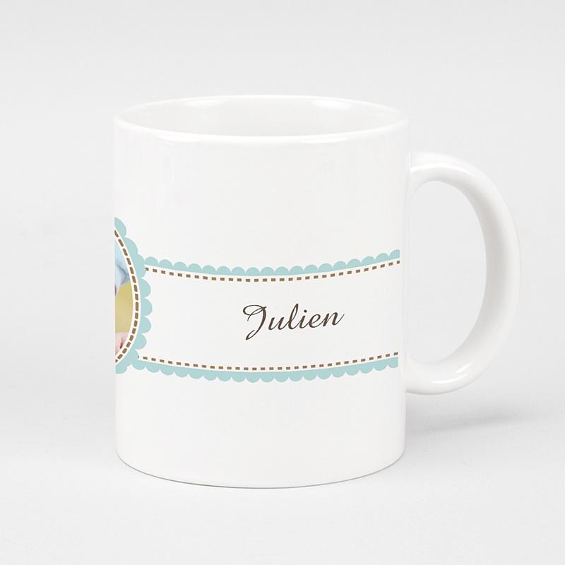 Mug Personnalisé Photo Toast de Baptême - Garçon