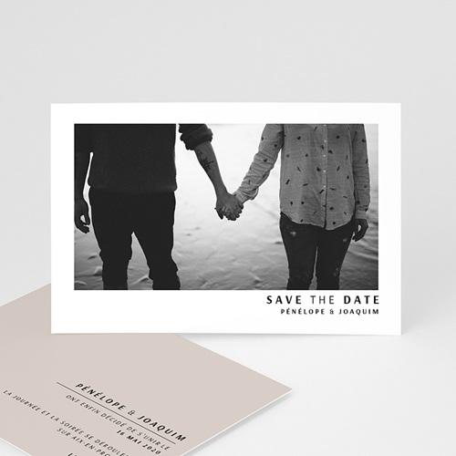Save the date mariage Moka Creme