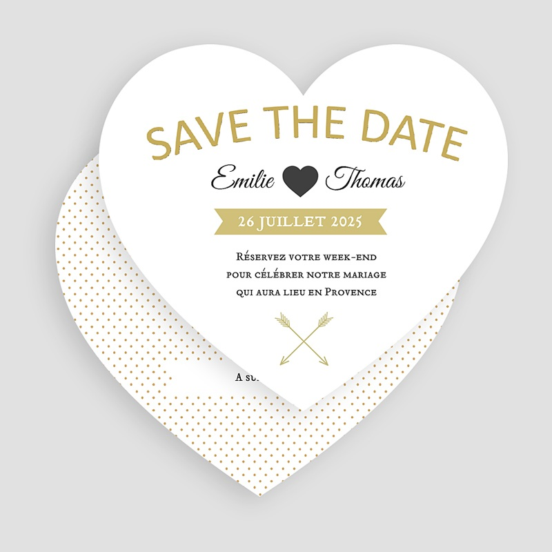 Save The Date Mariage Marque Coeur gratuit