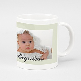 Mug Baptême Gris-beige