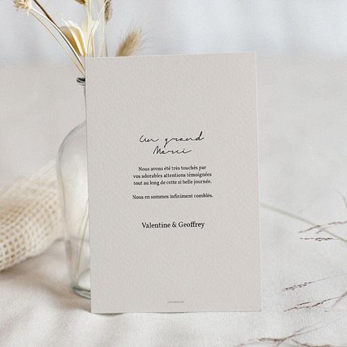 Carte remerciement mariage chic Palm Springs pas cher