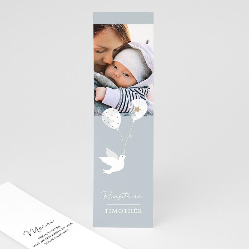 Carte Remerciement Baptême Garçon Peaceful 2