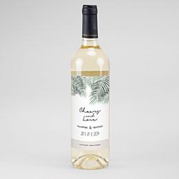 Étiquette bouteille mariage vin Palm Springs wine