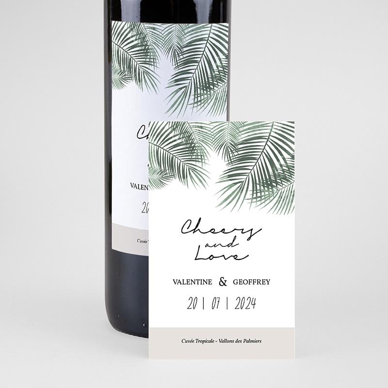 Étiquette bouteille mariage vin Palm Springs wine pas cher