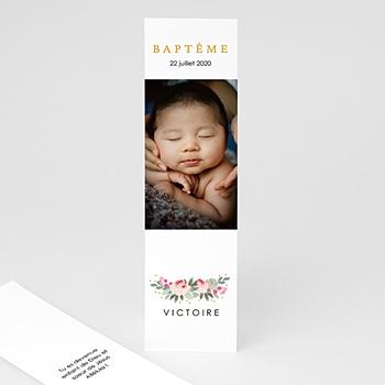 Marque page baptême fleurs de baptême pas cher