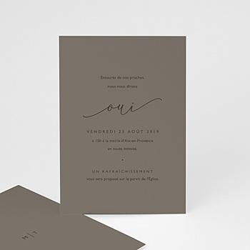 Carte invitation mariage nude chic à personnaliser