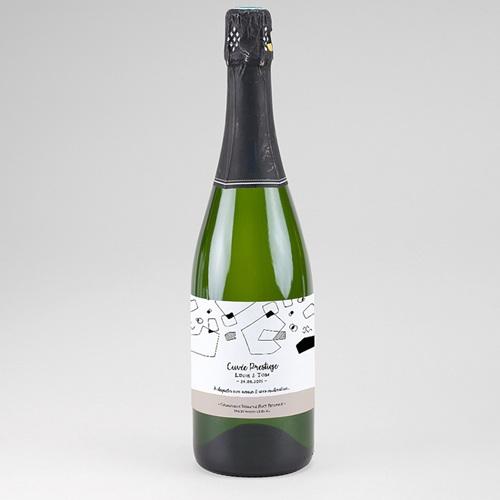 Etiquette bouteille mariage Formes Abstraites
