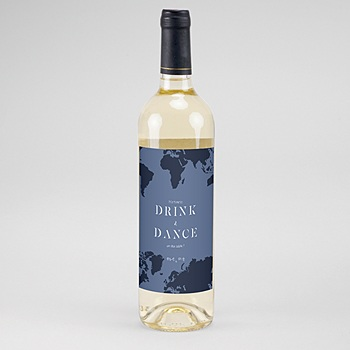 étiquette bouteille mariage vin monde entier à personnaliser