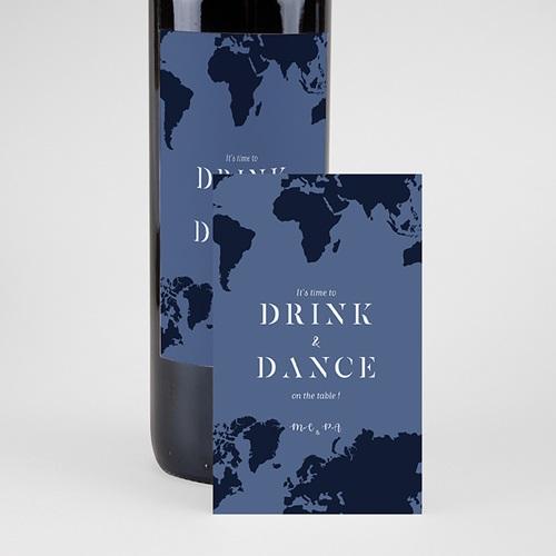Étiquette bouteille mariage vin Monde Entier pas cher