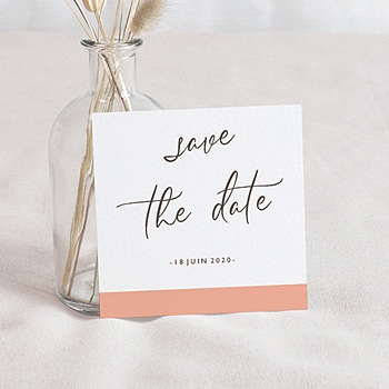Save the date mariage Color Touch personnalisable