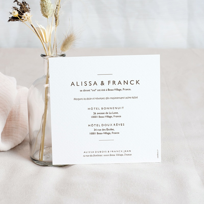 Save The Date Mariage Color Touch pas cher