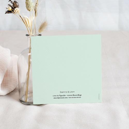 Carte remerciement mariage créatif Merci Mentholé pas cher