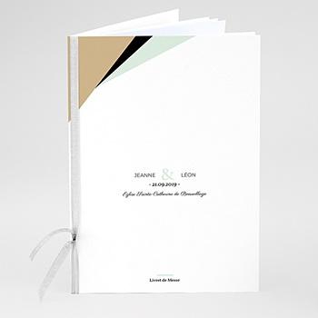 Livrets de Messe Mariage - Vert Doré Or - 0