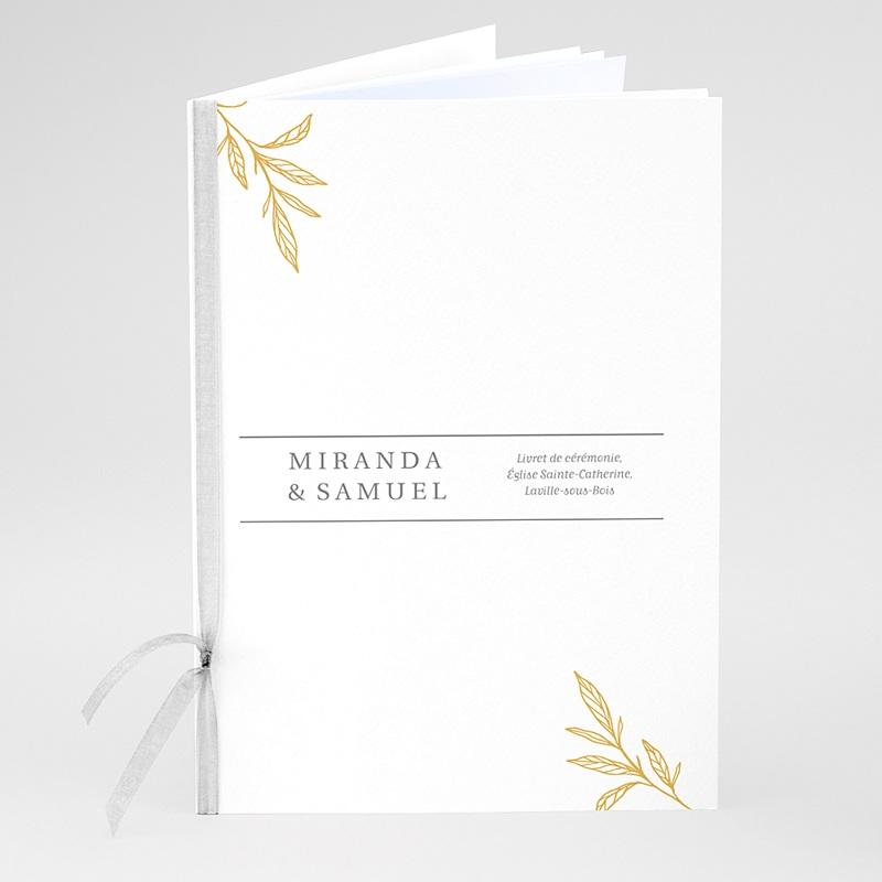 Livret messe mariage Botanique Minimaliste