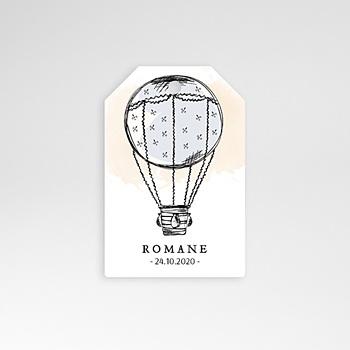 Etiquette naissance jolie montgolfière personnalisable