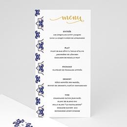 Menu de Mariage Bleu Ottoman