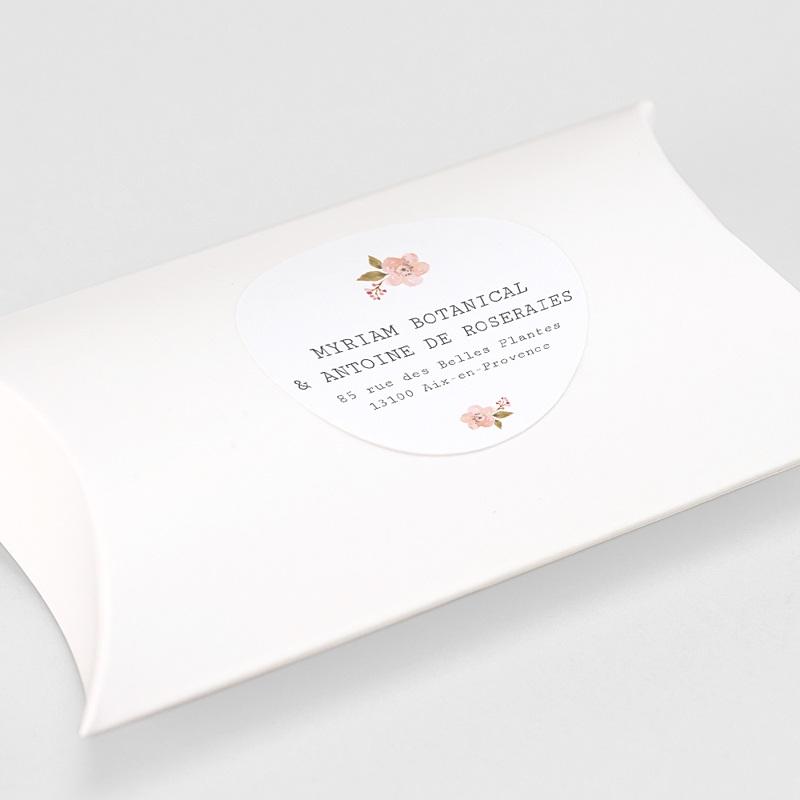 Etiquette Autocollante Mariage Rose Botanique gratuit
