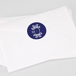 Étiquette autocollante mariage Bleu Ottoman
