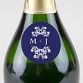 Etiquette Autocollante Mariage Bleu Ottoman