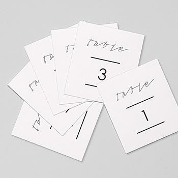 Marque table mariage minimaliste gris et blanc personnalisable