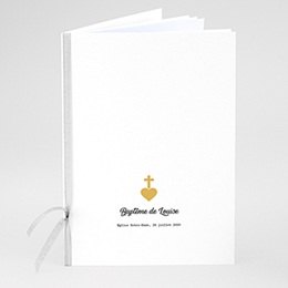 Livret de messe baptême Croix et Or