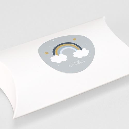 Etiquette Autocollante Baptême Rainbow & Clouds gratuit
