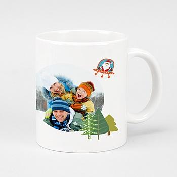Mug Noel en couleurs à personnaliser