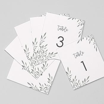 Marque Table Mariage - Rameaux Aquarelle - 0