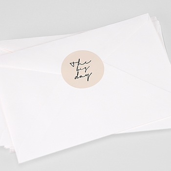Étiquette autocollante mariage - Oasis dorée - 0