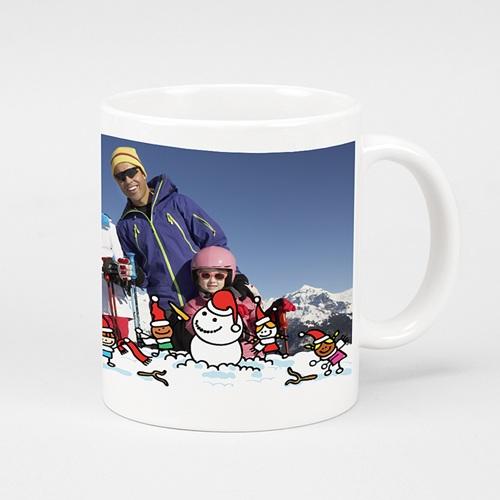 Mug Personnalisé Photo Partie de boule de neige