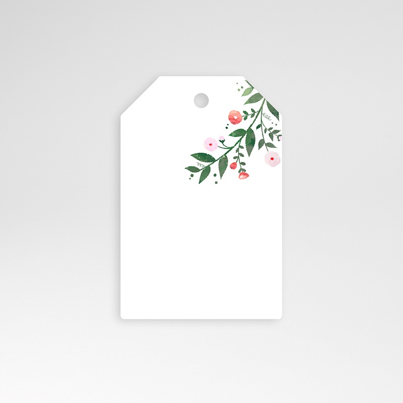 Etiquette Cadeau Mariage Fleurs d'été